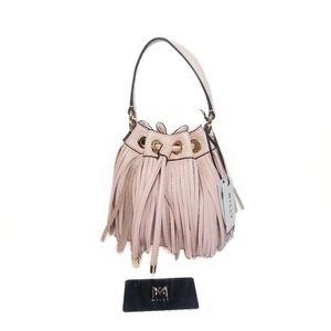 MILLY NWT Blush Pink Mini Fringe Essex Bag Purse